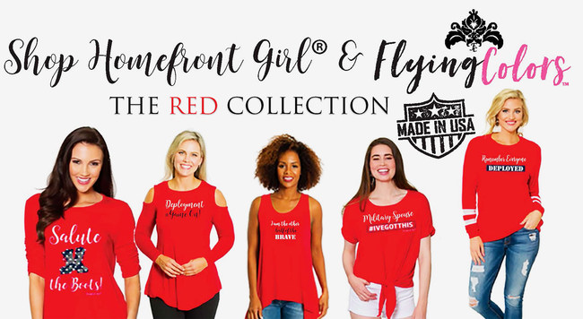 Introducing the first of four apparel collections starting with the RED Collection. REMEMBER EVERYONE DEPLOYED UNTIL THEY ALL COME HOME.