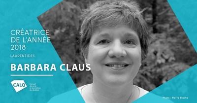 Barbara Claus, lauréate au prix du CALQ - Créatrice de l'année dans les Laurentides. crédit : Pierre Blache (Groupe CNW/Conseil des arts et des lettres du Québec)