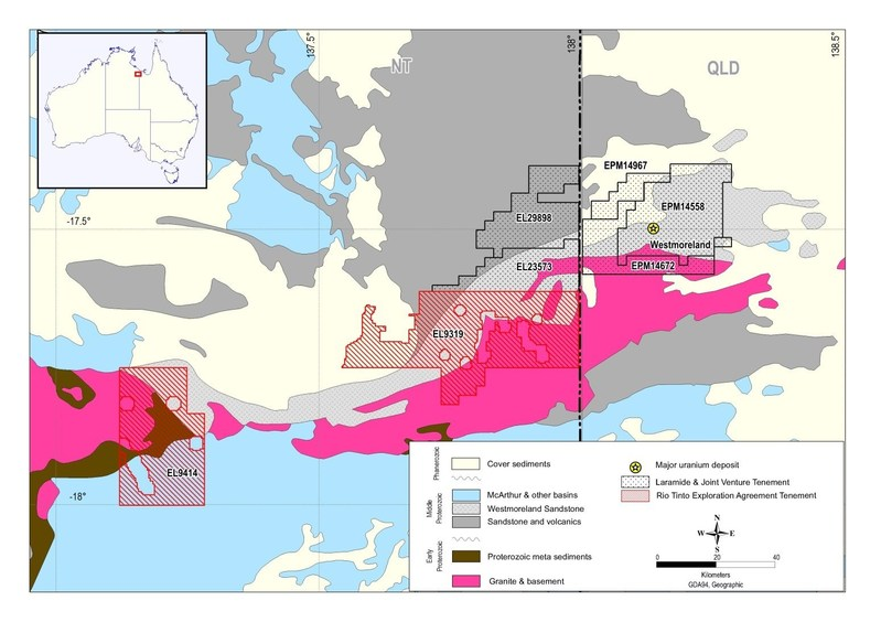 Figure 1 – Murphy Project (red outline) (CNW Group/Laramide Resources Ltd.)
