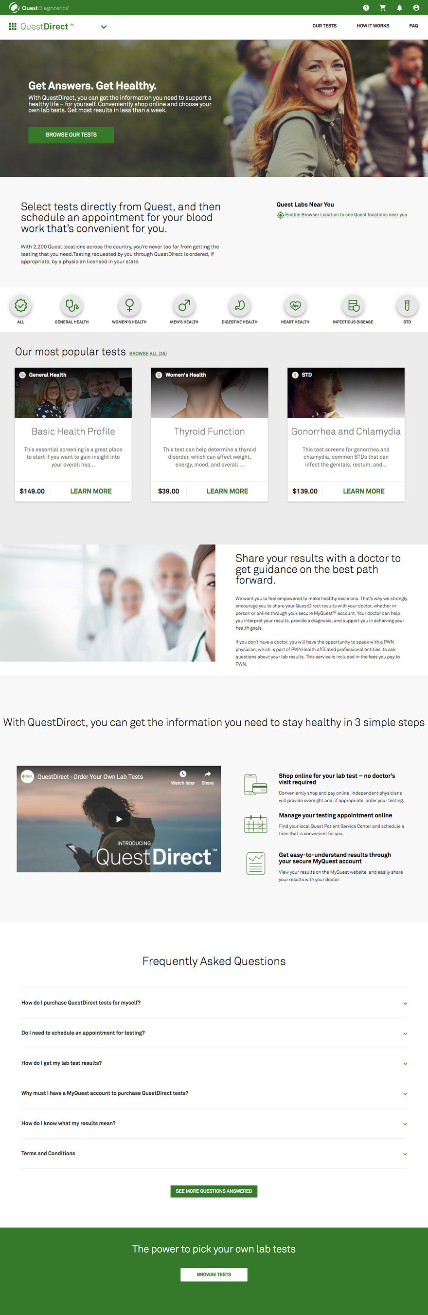 QuestDirect Home Page