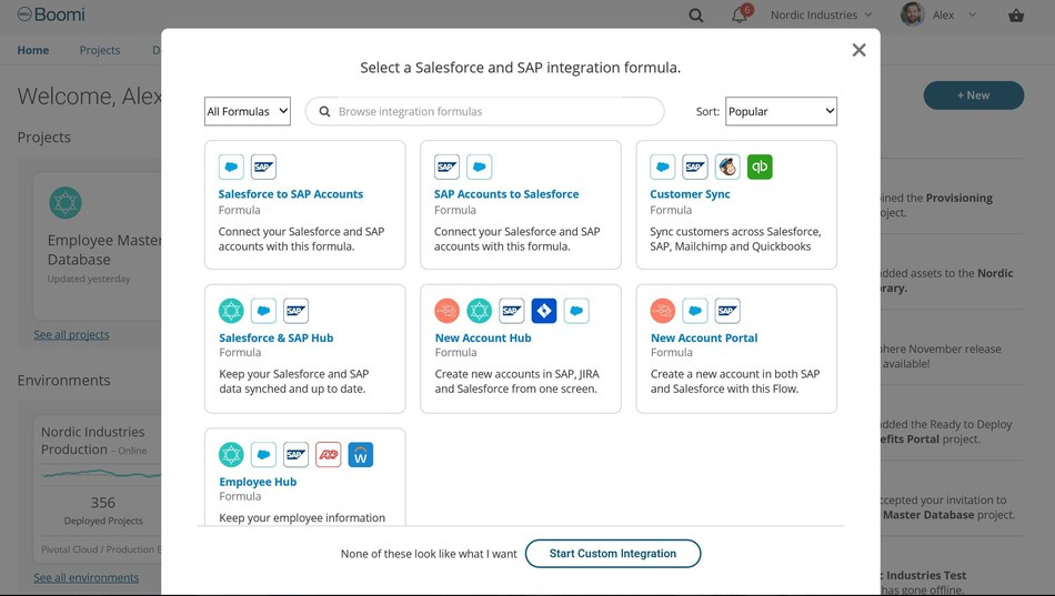 Screen shot: Boomi's vision for a customer-led experience to integrate Salesforce to SAP