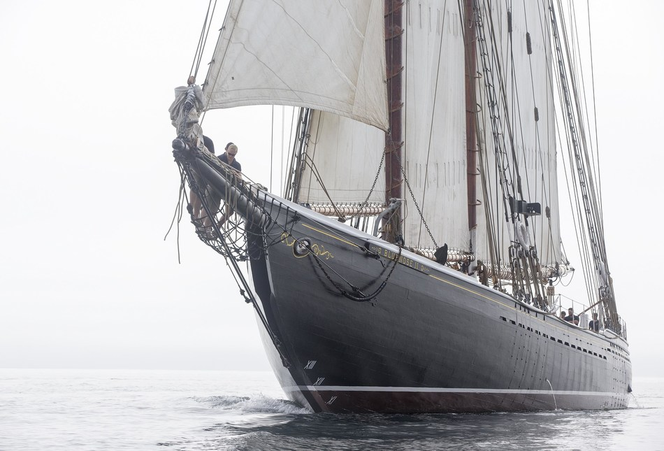 The Canadian icon, Bluenose II, will be at the helm of the fleet of tall ships participating in the TALL SHIPS CHALLENGE® ONTARIO tour. (CNW Group/Water's Edge Festivals & Events)