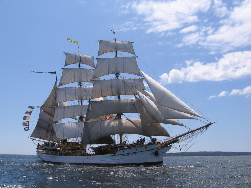 Bluenose II will be joined by Picton Castle, a square-rigged barque that is half way through its 7th trip around the world. (CNW Group/Water's Edge Festivals & Events)
