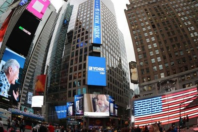 YORK VRF Showed in Times Square