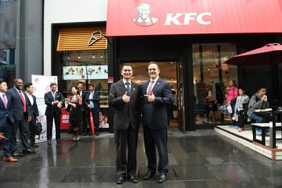 Governor Bevin and Johnson Huang, General Manager of KFC China