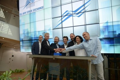 Intercure's bell ringing ceremony at Tel Aviv Stock Exchange Oct 31, 2018