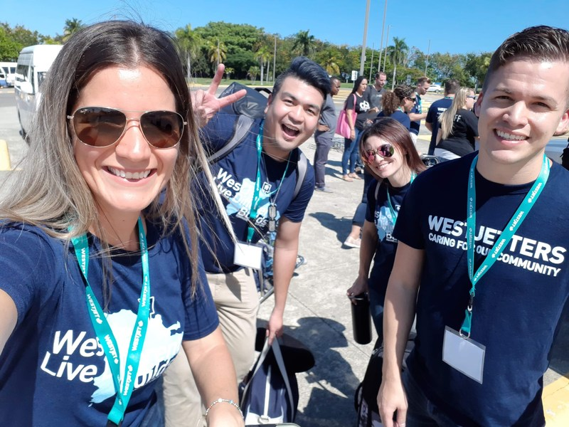 Over 50 WestJetters travelled to Dominican Republic for eighth annual WestJet Live Different Builds humanitarian trip (CNW Group/WESTJET, an Alberta Partnership)