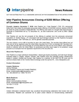 Closing News Release (CNW Group/Inter Pipeline Ltd.)