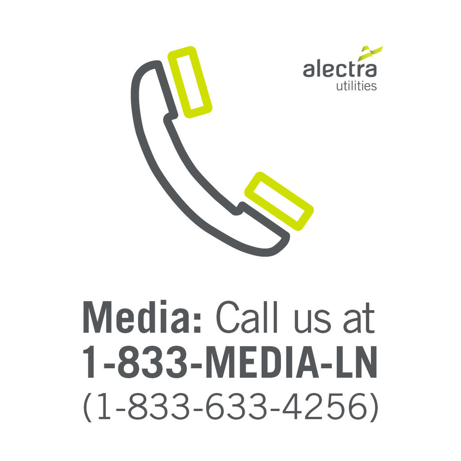 Media - Call us at 1-833-633-4256 (CNW Group/Alectra Utilities Corporation)