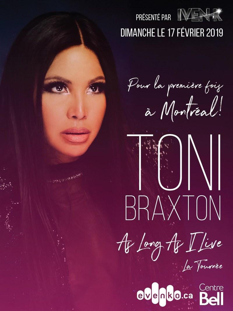 Toni Braxton lance sa tournée As Long As I Live pour la sortie de son dernier album Sex & Cigarettes (Groupe CNW/Toni Braxton)