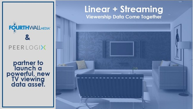 FourthWall Media and PeerLogix announce the launch of a powerful new TV viewership data asset. For the first time at scale, media companies and marketers can now understand both the linear and streaming TV viewing behavior of over 25 million households. The data can power audience insights, marketing campaign analytics and digital addressable targeting.