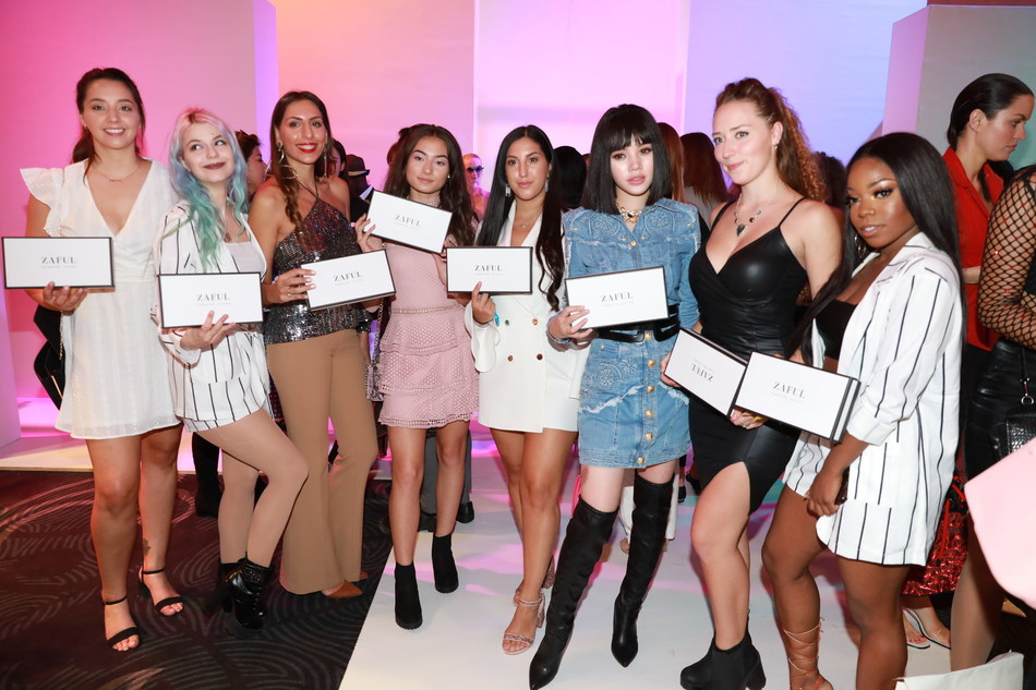 Influencers at ZAFUL×Victor Wong's show during London Fashion Week