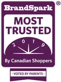 Market research firm BrandSpark International announced the 2019 BrandSpark Most Trusted Awards winners across 41 baby and kids categories as determined by a survey of over 3000 Canadian parents. (CNW Group/BrandSpark International)