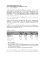 MDA 2018 Q3 (CNW Group/Ag Growth International Inc. (AGI))