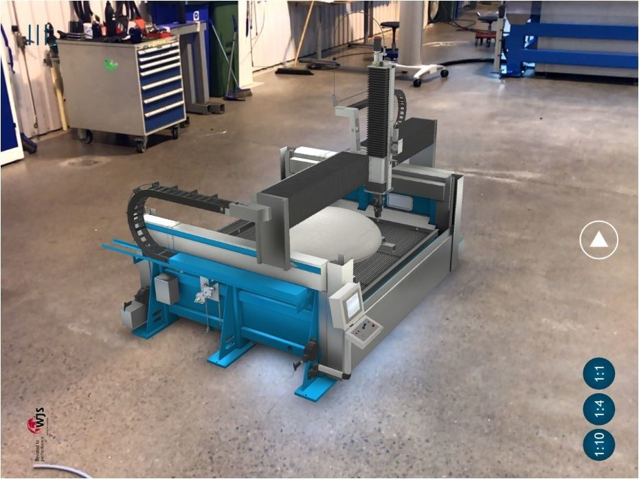 Water Jet Sweden 5-axis waterjet system VR, powered by KMT.