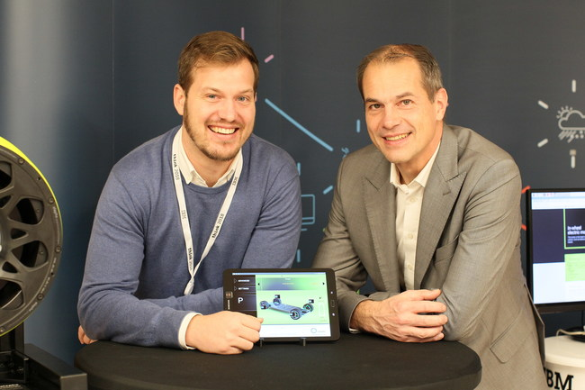 Luka Ambrožič, Head of Sales, Elaphe Propulsion Technologies (left) with Michael Paier, General Manager, IBM South East Europe (PRNewsfoto/IBM)