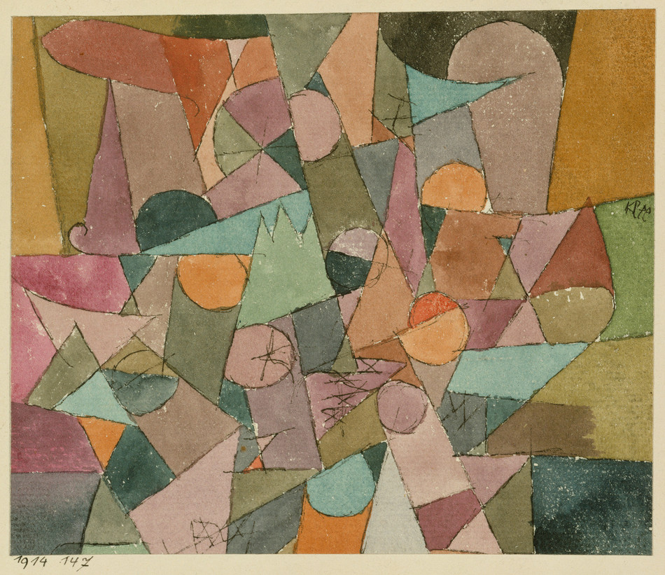 Paul Klee, Untitled (detail), 1914, watercolour and ink on paper mounted on cardboard. The Metropolitan Museum of Art. The Berggruen Klee Collection, 1984 (1984.315.5) (CNW Group/National Gallery of Canada)