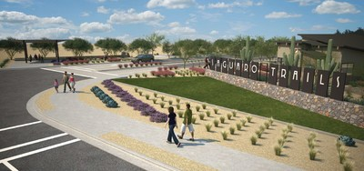 A rendering of the entry to Saguaro Trails, the newest Mattamy Homes community in Tucson, Arizona. (CNW Group/Mattamy Homes Limited)