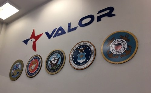 The VALOR logo and Military Seals adorn the minimum security facility where the veterans are housed. This is a constant reminder to the veteran that despite there circumstances they are given this opportunity because of their military service.