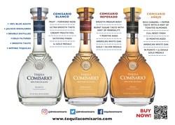Three Expressions of Tequila Comisario® www.tequilacomisario.com (PRNewsfoto/Elite Beverage International, I)