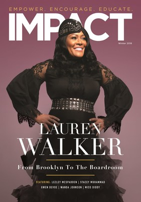 Lauren Walker, Chief Supply Chain Officer, Young Living Essential Oils, was named Guest of Honor at IMPACT Magazine's Women of IMPACT Honorary Black Tie Affair in Washington, D.C., on November 4 and had the distinct honor of being the cover model for the Winter issue (Photo by IMPACT Magazine).