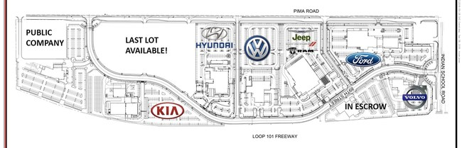 Scottsdale AutoShow Site Map