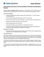 2018 Q3 Earnings (CNW Group/Inter Pipeline Ltd.)