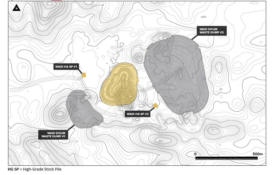 Figure 2: Block 14 Wadi Doum Site Layout (CNW Group/Orca Gold Inc.)