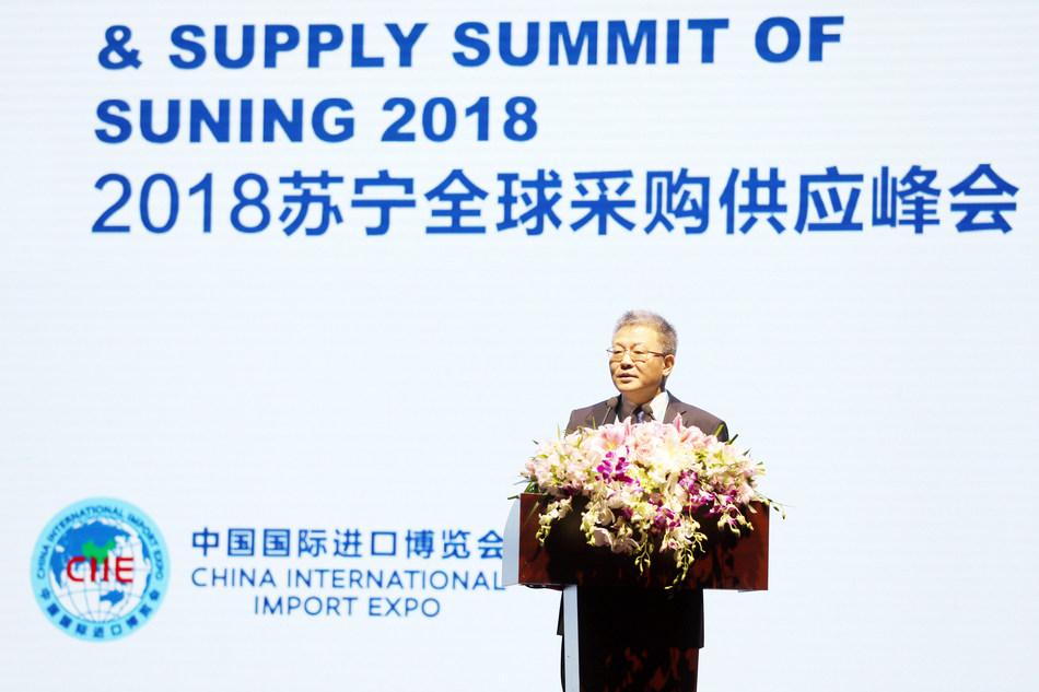 Sun Weimin, Deputy Chairman of Suning.com made speech at the summit