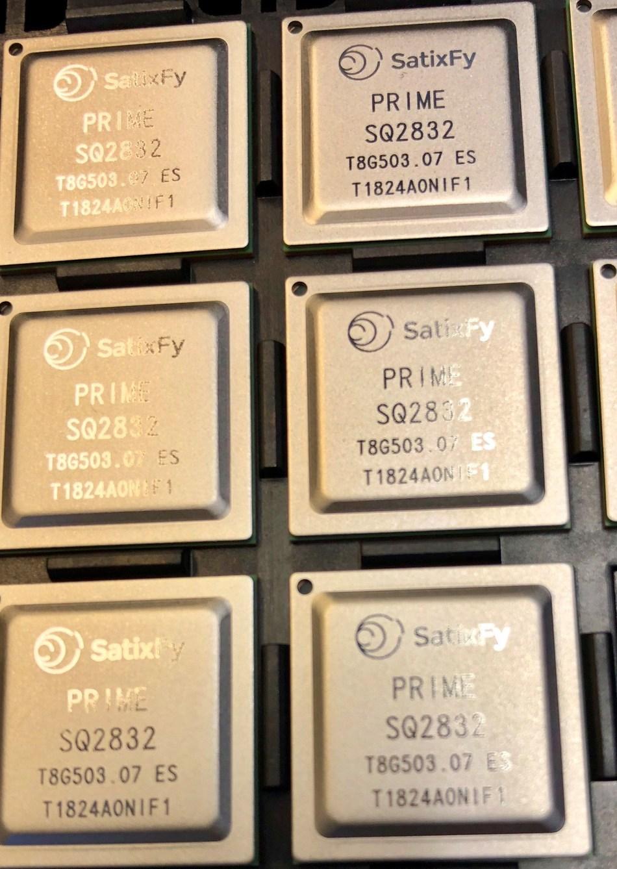 SatixFy's Prime Beam Former ASIC (PRNewsfoto/SatixFy)