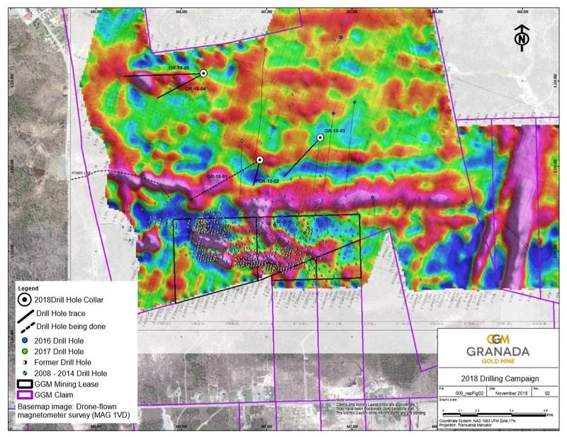 Granada Gold 2018 Drilling Campaign (CNW Group/Granada Gold Mine Inc.)