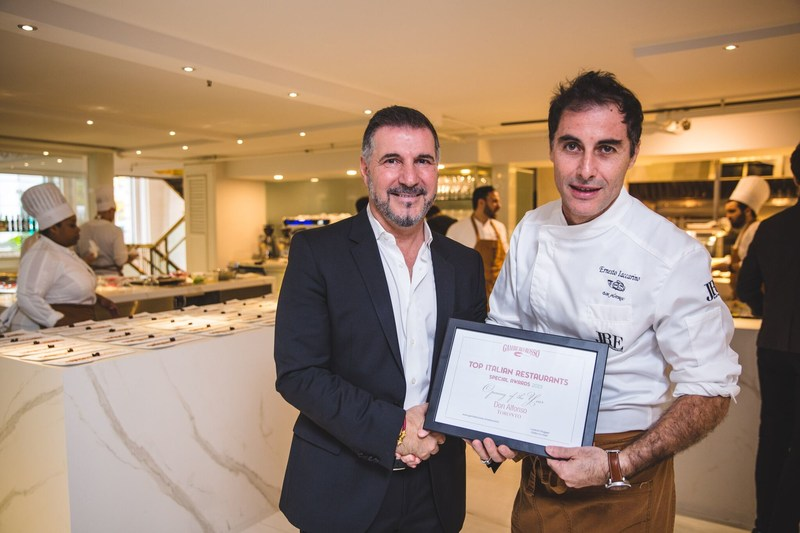 Don Alfonso 1890 Toronto Named 'Best Opening of the Year' and Recognized with 'Tre Forchette' by Gambero Rosso (CNW Group/Don Alfonso)