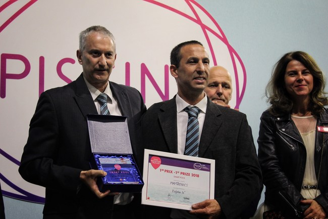 Maytronics wins Innovation Trophy Award at Piscine Global 2018