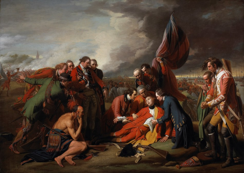 Benjamin West | The Death of General Wolfe, 1770 | oil on canvas |152.6 x 214.5 cm Gift of the 2nd Duke of Westminster to the Canadian War Memorials, 1918 |  Transfer from the Canadian War Memorials, 1921 | National Gallery of Canada, Ottawa | Photo: NGC (CNW Group/National Gallery of Canada)