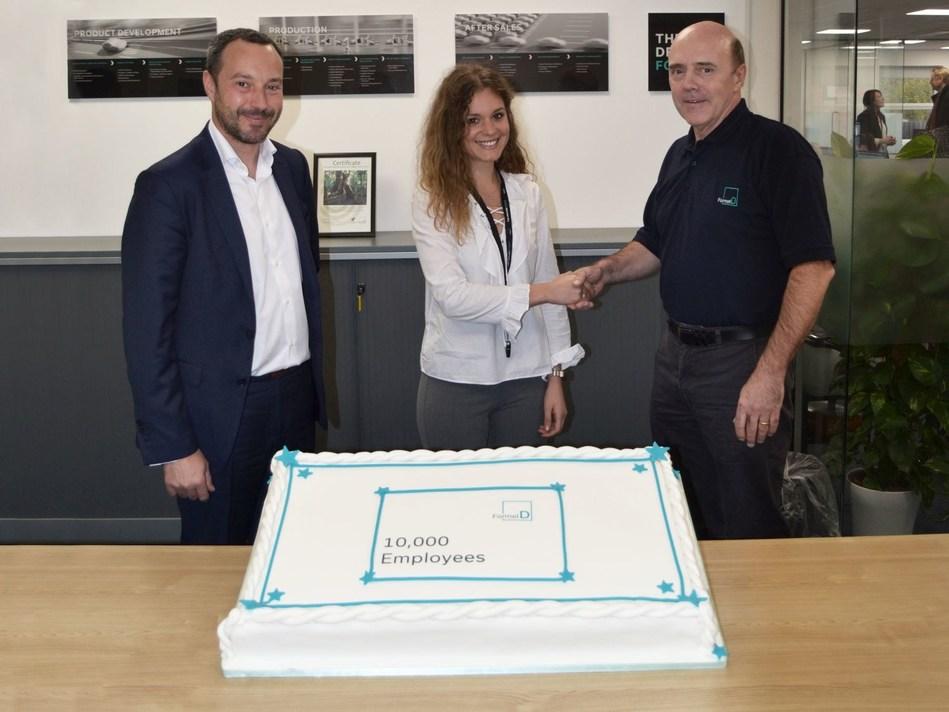 From left to right: José Luis Estévez (Vice President Western Europe, Formel D), Sandra Lopez Moya (Recruiter, Formel D), Neil Davies (Director Operations, Formel D) (PRNewsfoto/Formel D GmbH)