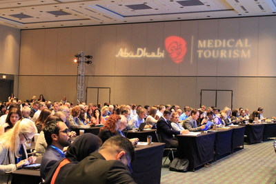 HEALTHCARE ЯEVOLUTION® October 28-30: The room holding the general session fills up to observe a keynote featuring Abu Dhabi