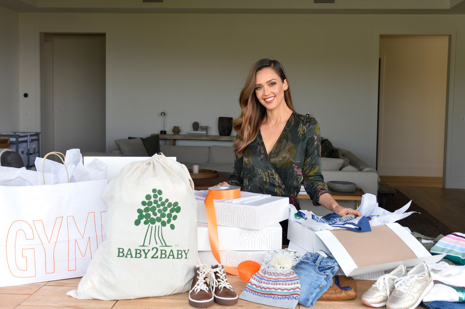 Jessica Alba, Baby2Baby Ambassador, Supports Gymboree's Holiday Giving Campaign with Baby2Baby