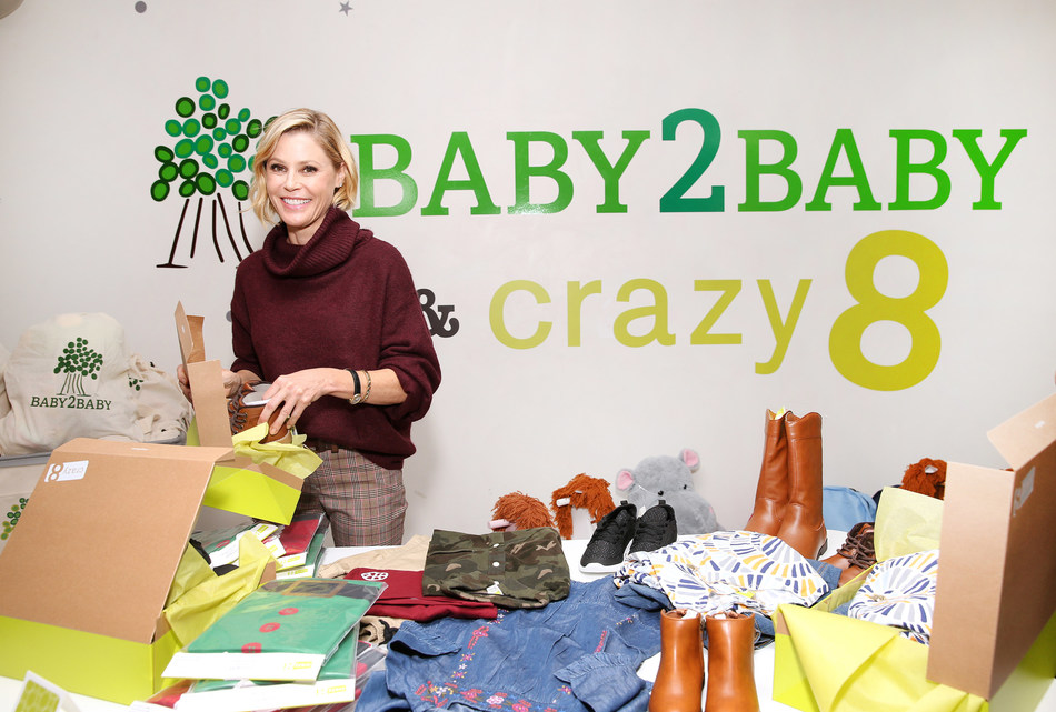 Julie Bowen, Baby2Baby Ambassador, Supports Crazy 8's Holiday Giving Campaign with Baby2Baby