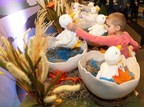 Five-year-old Caroline Lantz claims her very own My Special Aflac Duck, a comforting companion for children with cancer, as her prize at the end of a scavenger hunt held at Monroe Carell Jr. Children's Hospital at Vanderbilt on Thursday, Nov. 8, 2018.