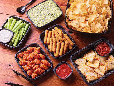 New Applebee's Catering features catering portions served in party-ready packaging to serve parties of six or more at prices starting at less than $10 per person.