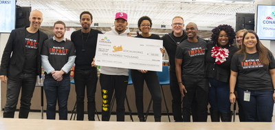 Conagra Brands presented Chance the Rapper a grant to Chicago Public Schools which ensures that more students have access to enrichment education.