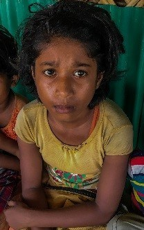 A Rohingya refugee girl at a World Vision nutrition centre. Cox's Bazar, Bangladesh. Children's protection must be a top priority, says World Vision Canada, ahead of planned Rohingya refugee repatriation. Photo/World Vision (CNW Group/World Vision Canada)