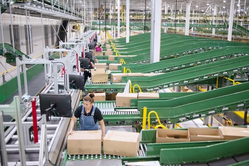Le centre de distribution de Gap Inc. à Fishkill, New York.