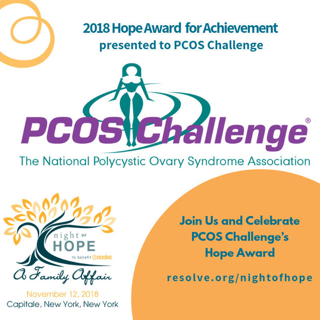 PCOS Challenge Receives RESOLVE Hope Award of Achievement