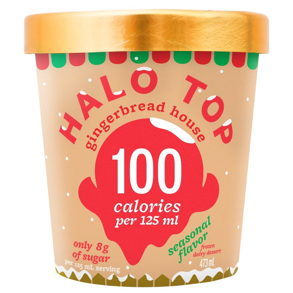 Halo Top Gingerbread House has arrived in Canada (CNW Group/Halo Top Creamery)