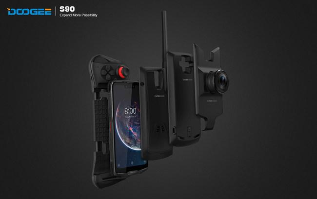 DOOGEE S90, the world's first modular rugged phone (PRNewsfoto/DOOGEE)