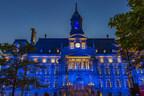 L'hôtel de Ville de Montréal sera éclairé en bleu pour un dernier hommage à l'ancien premier ministre du Québec Bernard Landry (Groupe CNW/Ville de Montréal)