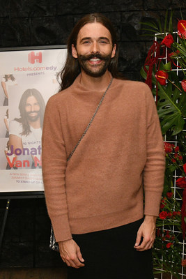 Jonathan Van Ness attends the premiere of all-new docuseries - Hotels.comedy Presents: 10 Nights with Jonathan Van Ness