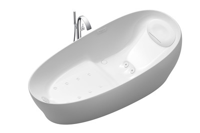 A CES 2019 Innovation Awards Honoree, TOTO's Flotation Tub simulates zero gravity by offering bathers the experience of total weightlessness. Its unique body posture—with the buttocks lower than the slightly bent legs—quiets the brain's response to stress and arousal for deep relaxation. Water flows from an ergonomic pillow keeping the neck and shoulders warm. HYDROHANDS jets create the experience of real hands massaging the lower back. Special air jets envelop the body in a therapeutic flow.