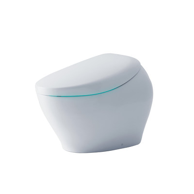 A CES 2019 Innovation Awards Honoree, TOTO's NEOREST NX2 intelligent toilet offers high-tech sensor operation, integrated WASHLET personal cleansing system, and energy- and water-saving features. It auto-cleans the bowl with ACTILIGHT's integrated ultraviolet light and titanium dioxide-fired bowl, which becomes super hydrophilic—waste, lime scale, and mold wash away. The activated surface also triggers photocatalysis, accelerating the decomposition of organic substances at the cellular level.